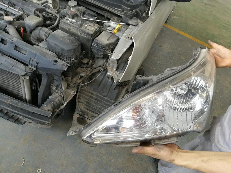 北京现代bh7141ay轿车 前大灯(左) 拆车件_二手配件